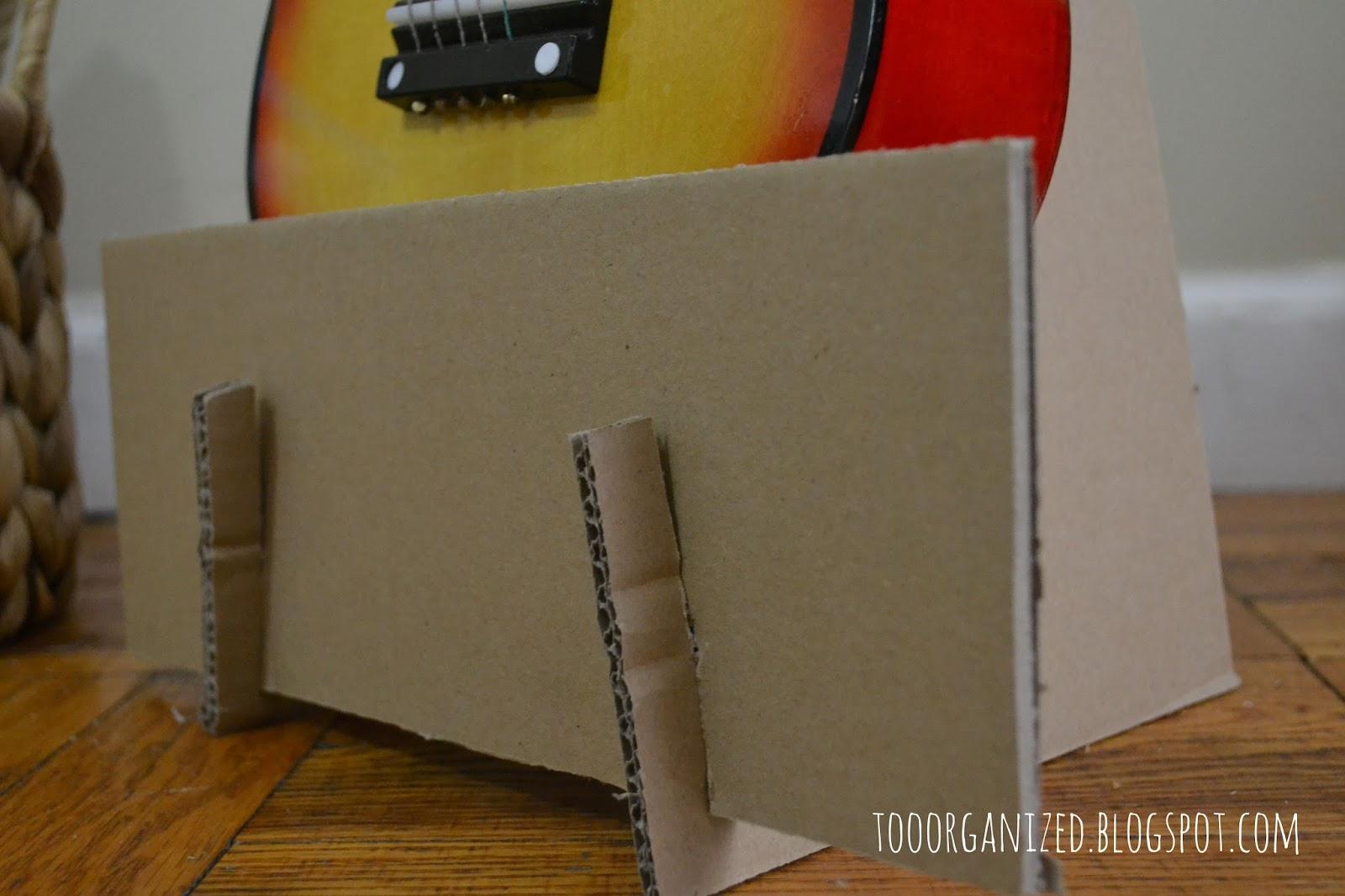 Diy Cardboard Guitar Stand Too Organized