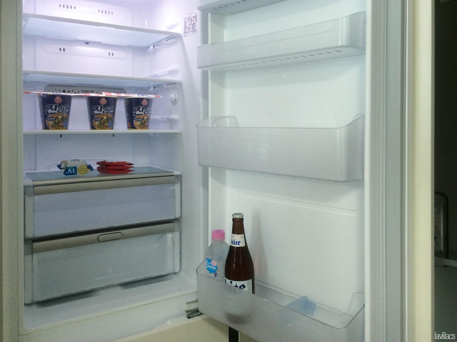 Seoul, Korea - Summer Study Abroad 2014 - Busan studio refrigerator via AirBnB