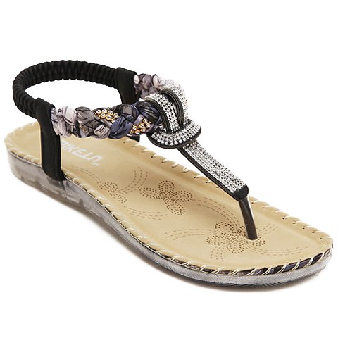 Sweet rhinestone sandals