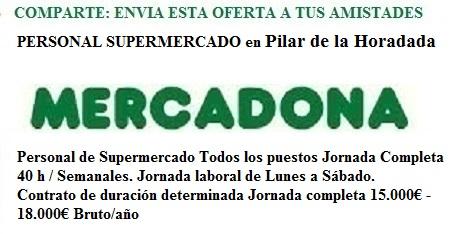 Pilar de la Horadada, Alicante, Lanzadera de Empleo Virtual. Oferta Mercadona