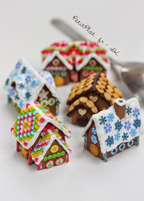 Miniature Gingerbread Houses - Maisons en Pain d'Epices Miniatures - PetitPlat, Stephanie Kilgast