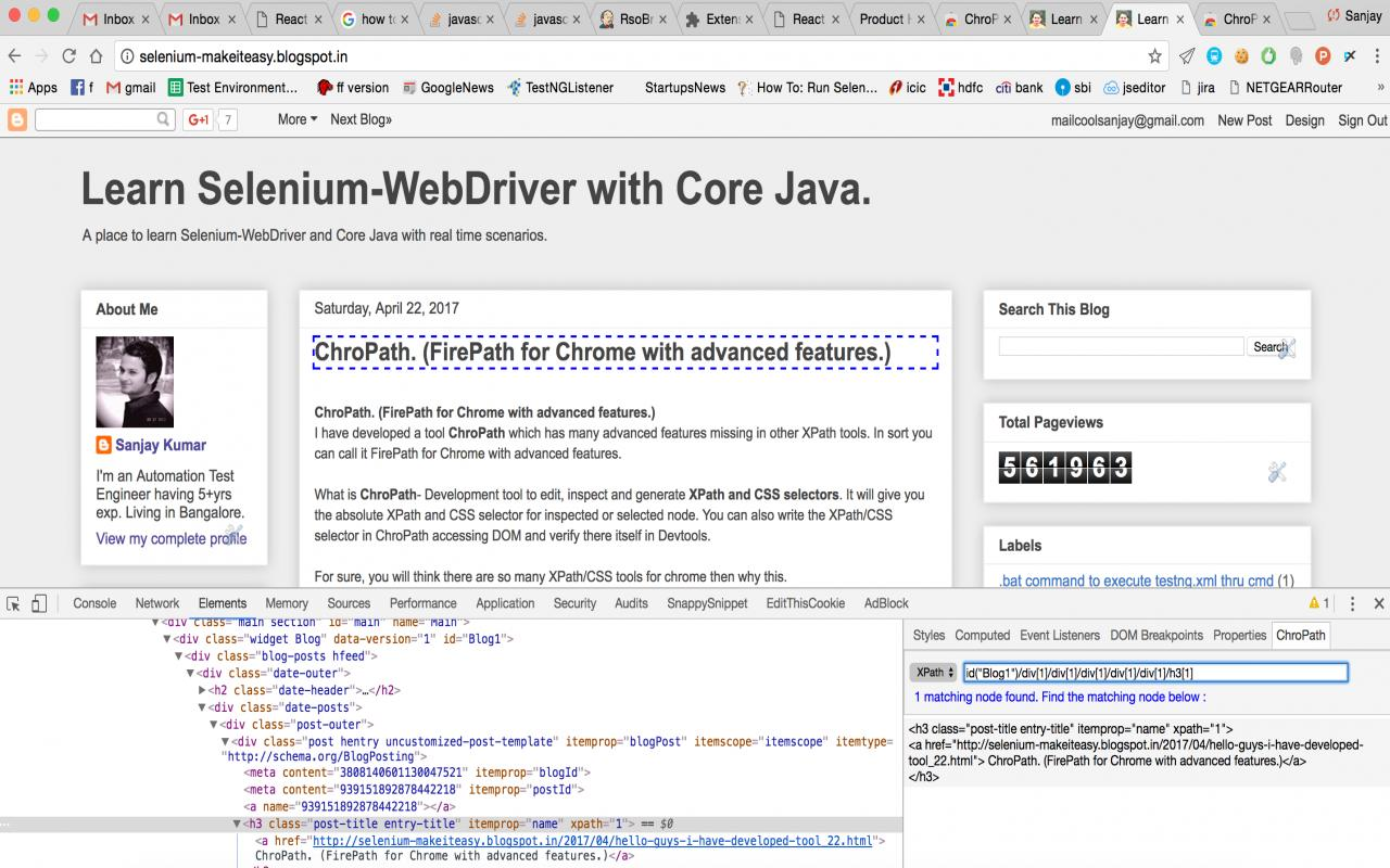 Learn selenium webdriver with core java if you have any feedback or need any feature improvement in the tool please add your reviewcomment in the chropath download link thank you baditri Gallery