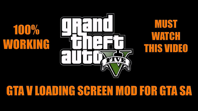 GTA V Loading Screen Mod for GTA San Andreas Free Download