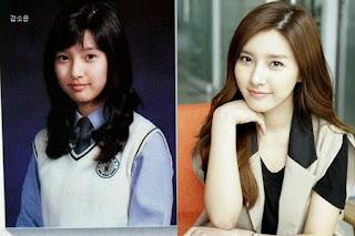 foto pre debut masa kecil kim so eun