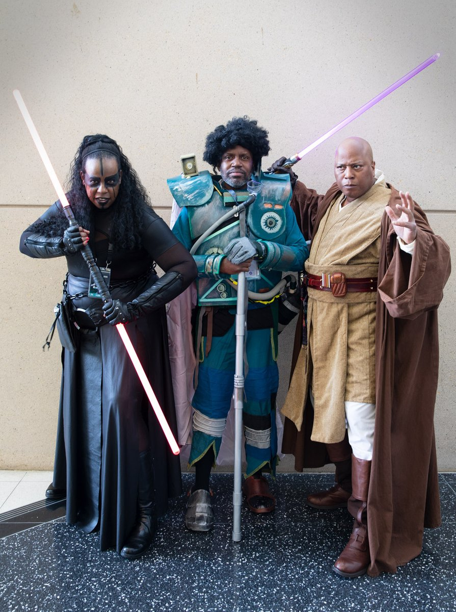 Saw and mace windu cosplay