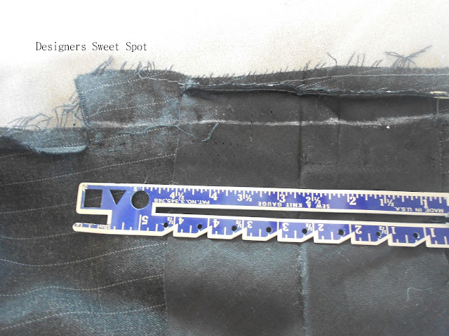 How to Hem Suit Coat Sleeves, Step by Step|Designers Sweet Spot|www.designerssweetspot.com
