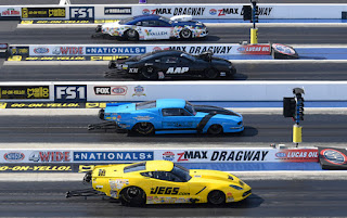 Mike Castellana, second from top at NHRA Four Wide zMAX Dragway