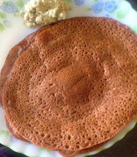 Ragi Khara Dosa,finger millet semolina crepes