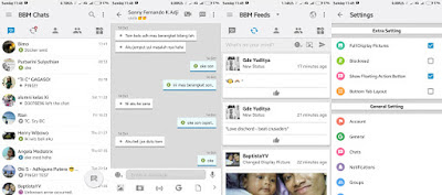 BBM Mod Iphone Style IOS Versi APK+DATA 3.1.0.13