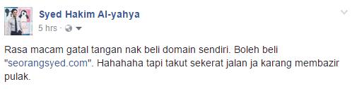 Facebook Seorang Syed