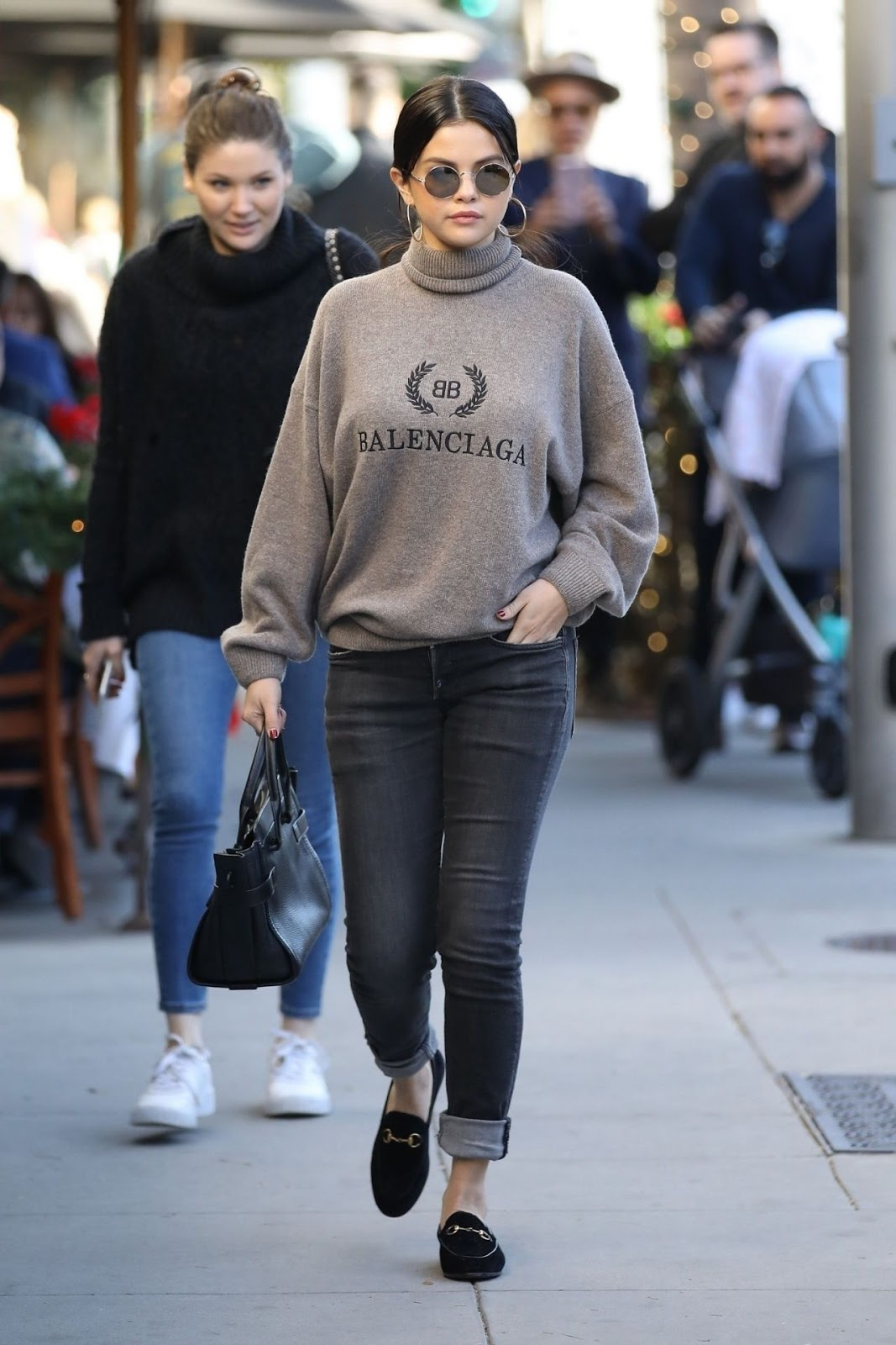 Selena Gomez spotted in Balenciaga turtleneck in LA