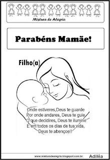 Dia das mães-mensagem do filho