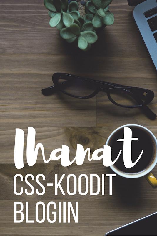 CSS-koodeja blogiin