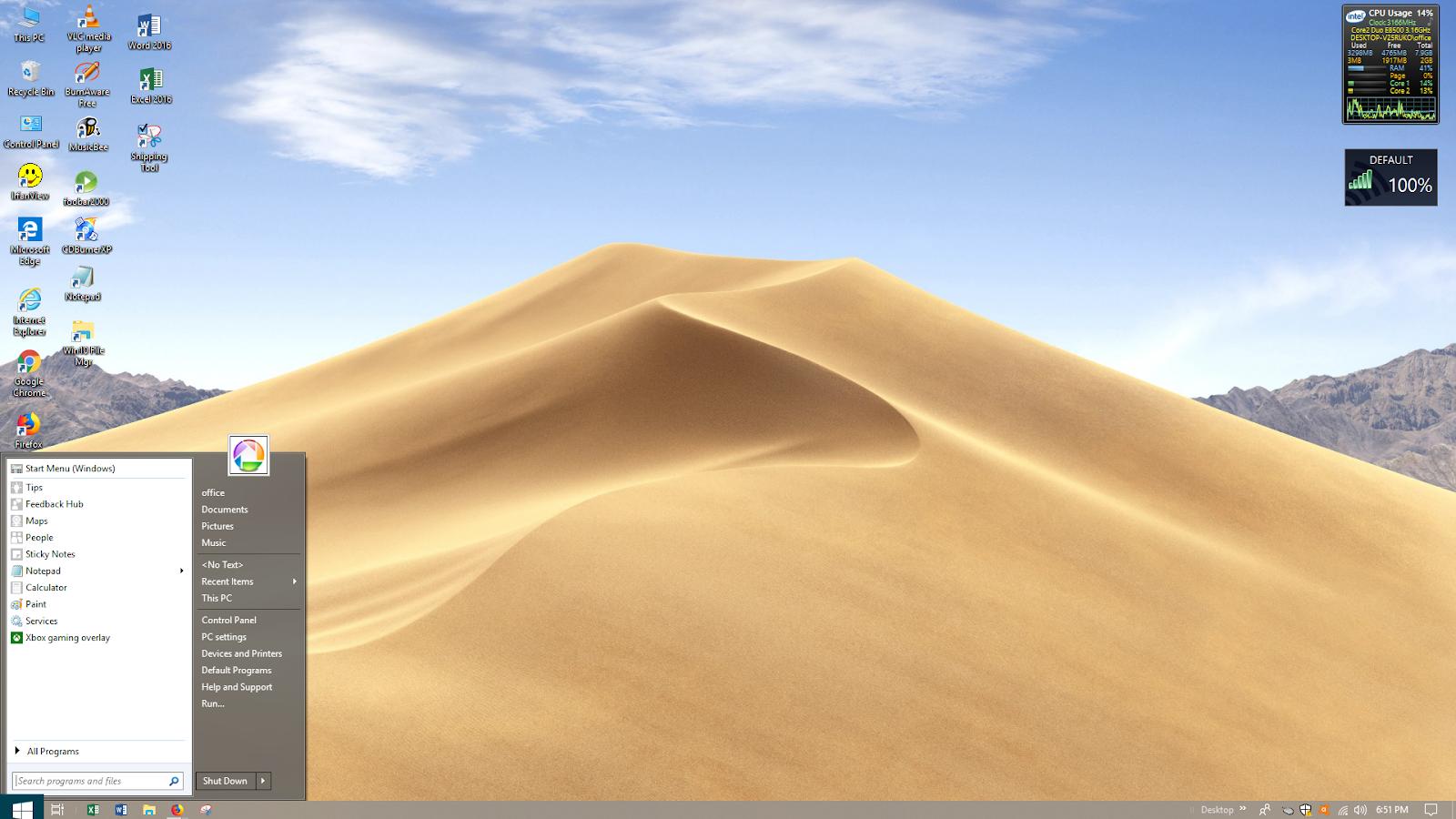 Everything Windows 10: macOS Mojave Dynamic Theme