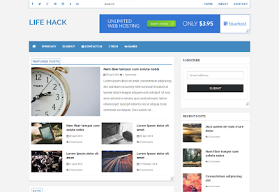 Life Hack Blogger Template