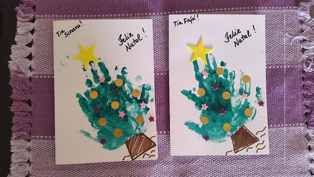 cartão de natal infantil