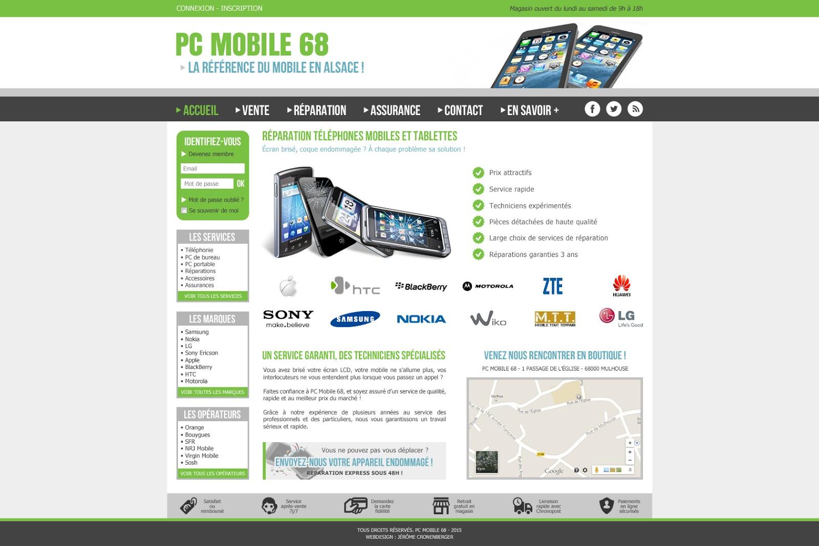 Création de site web, pc mobile 68