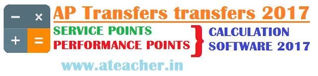 AP Teachers Transfers Points Calculation Software 2017 Entitlement,Performance,Special Points