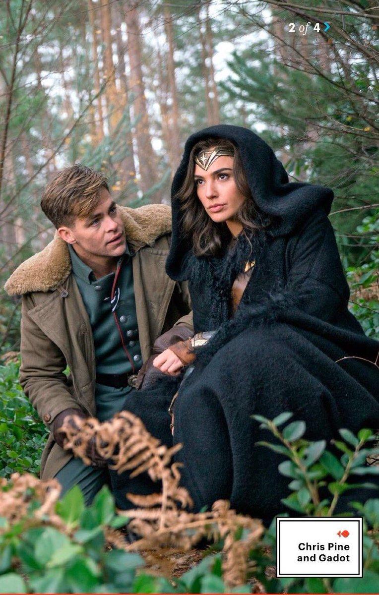 Gadot y Chris Pine en  Wonder Woman