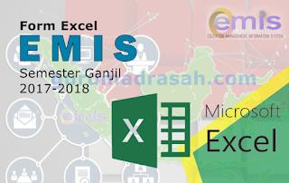Form Excel Emis Semester Ganjil Tahun Pelajaran 2017/2018