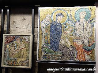 Santa Maria Antiqua mosaicos Guia Roma Portugues - Igreja de Santa Maria Antiqua no Foro Romano