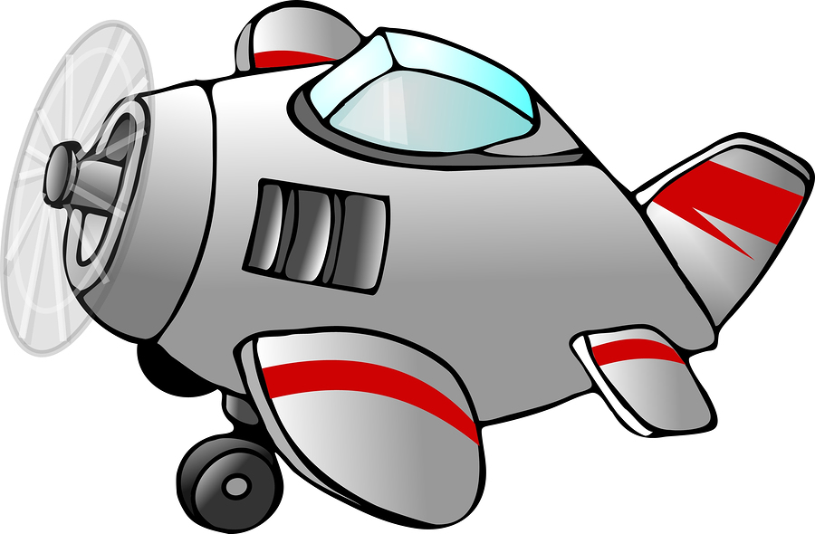 funny pictures: Funny cartoon plane flying for kids