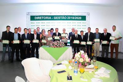 Diretoria Executiva, Conselho Deliberativo e Conselho Fiscal na cerimônia de posse