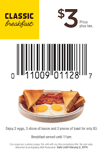 A&W Coupons $3 Classic Breakfast