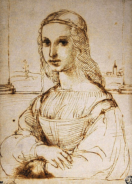 The drawing by Raffaello