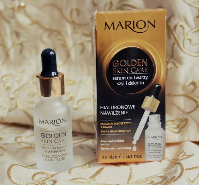 """,,Golden Skin Care"""" serum do twarzy, szyi i dekoltu firmy Marion"""