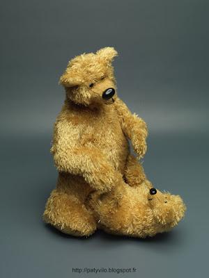 teddy bears, fiber art