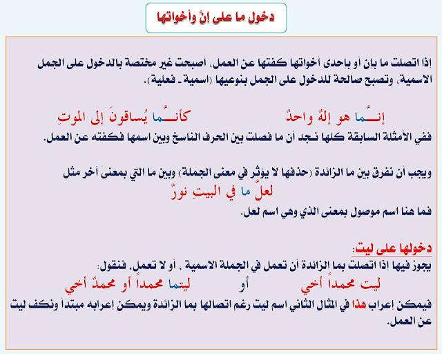 """انفراد.... كل قواعد اللغة العربية لطلاب """"ابتدائي - اعدادي - ثانوي"""" في صورة لوحات مبسطة مع الشرح والتدريبات 65"""