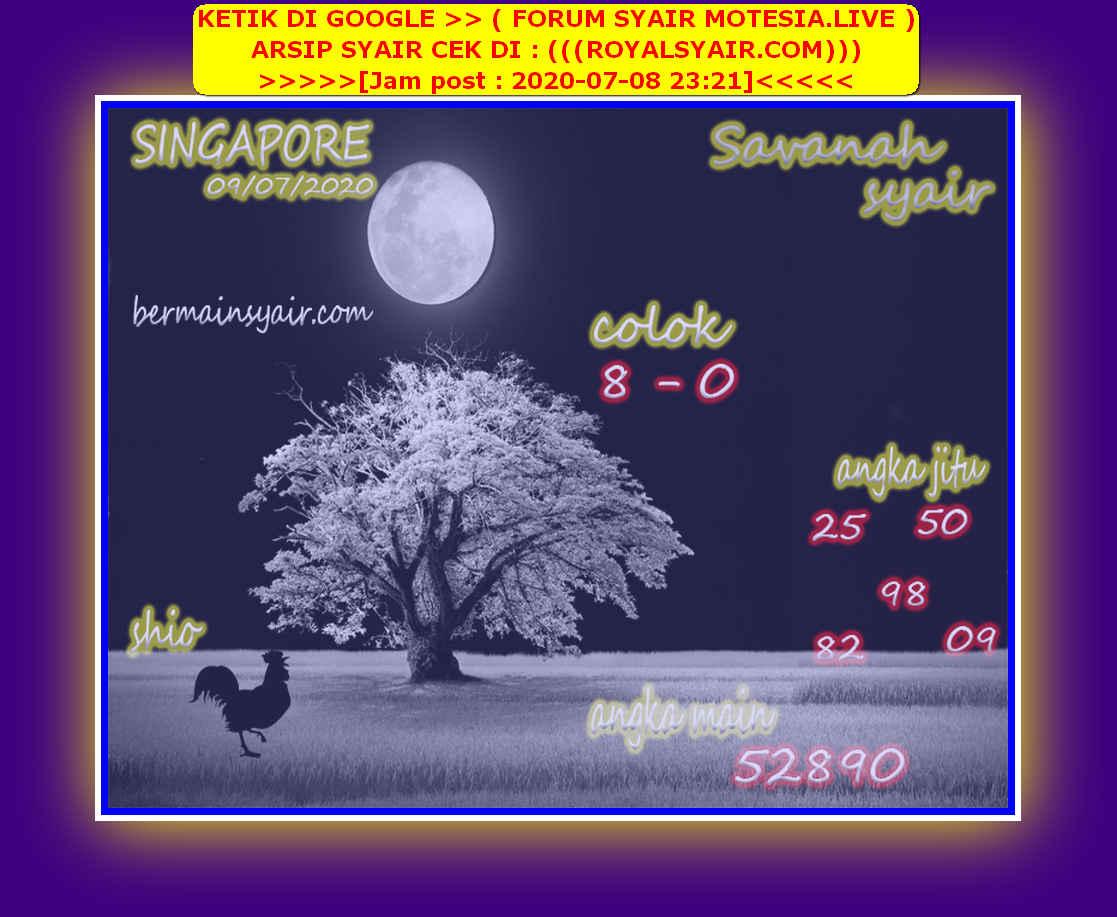 Kode syair Singapore Kamis 9 Juli 2020 222