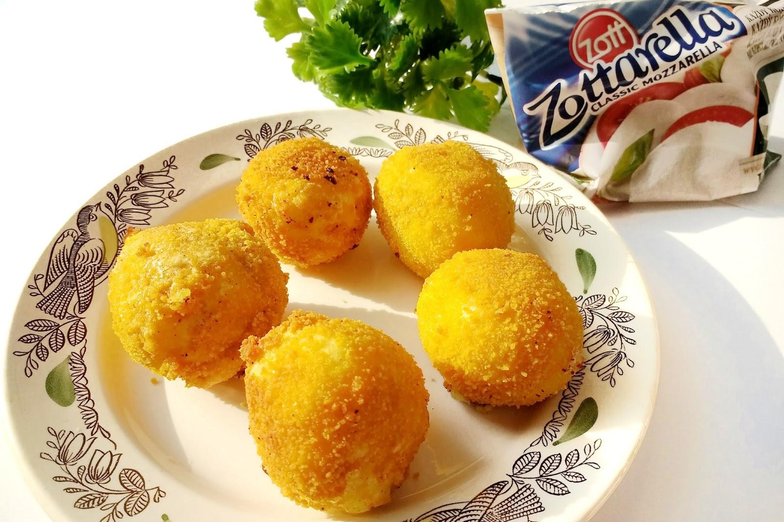 Ziemniaczane kuleczki z mozzarellą | Zottarella bez GMO | #kreatywniewkuchni #zottarellabezgmo