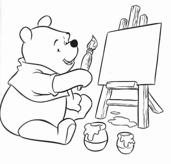Pintar E Colorir Pintar Ursinho Pooh Colorir Ursinho Pooh
