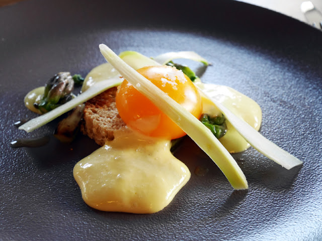 Slow cooked duck egg yolk by Etch restaurant Brighton