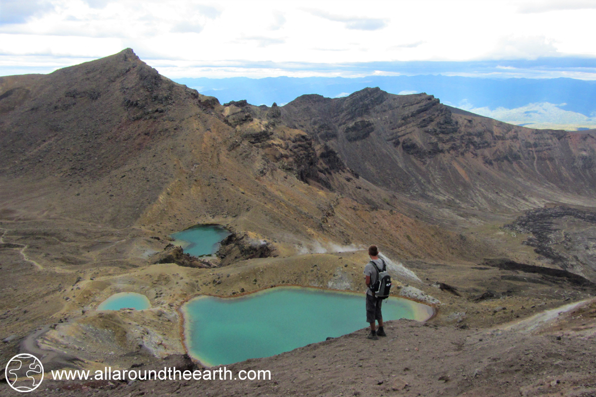 Emerald lakes along the Tongariro Alpine Crossing, New Zealand, North Island
