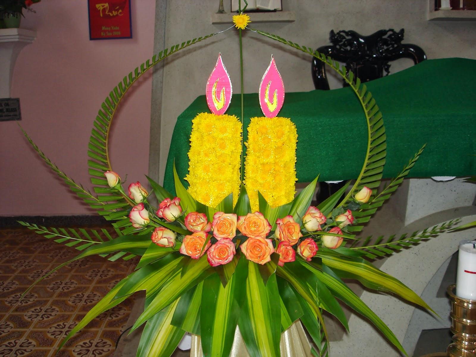 Cắm hoa ngày lễ Thêm Sức, Nghệ thuật cắm hoa nhà thờ, Cắm hoa phụng vụ, cắm hoa nhà thờ đẹp, cắm hoa nghệ thuật, cắm hoa theo mùa phụng vụ