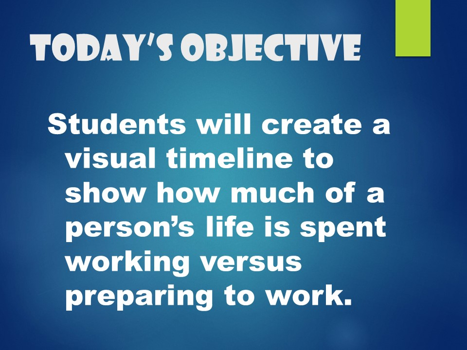 Goal Setting for Your Future--8th grade lessons - The Middle