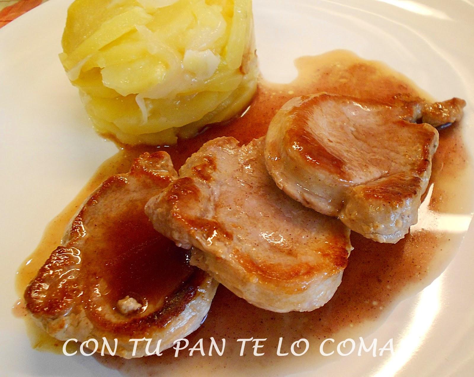Con tu pan te lo comas solomillo de cerdo con salsa al - Salsa de oporto para solomillo ...