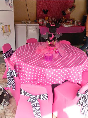 Cute Minnie Party Decoration.