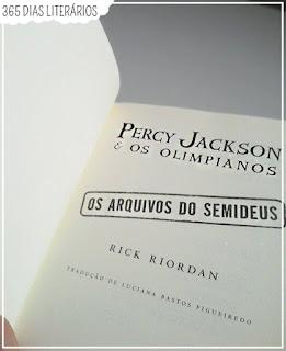 Percy Jackson- Os arquivos do Semideus, Resenha, Rick Riordan, Livro, Editora Intrínseca, Percy Jackson