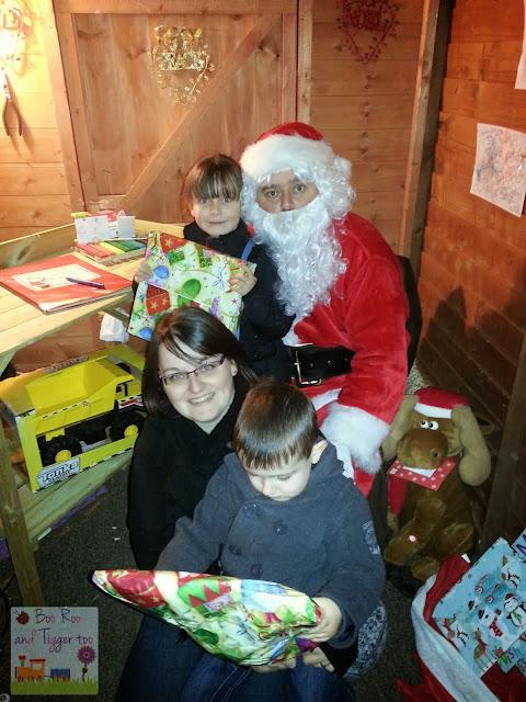 Boo Roo and Tigger Too: Visiting Santa's Grotto
