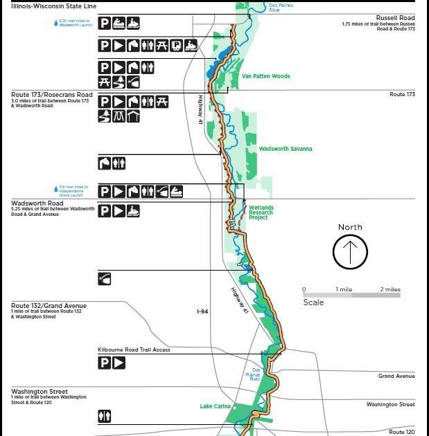 Illinois Wisconsin Fishing: des plaines river maps