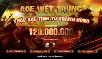3vs3 Shang - AoE Việt Trung Thập Bát Tinh Tú Tranh Hùng