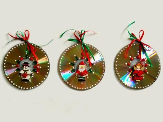 14 ideas para hacer adornos de navidad con cds
