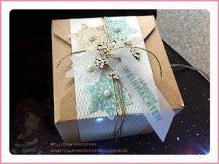 Stampin' Up Rosa Mädchen Kulmbach Teamtreffen Jenni Pauli Helga Hopen Box Weihnachten Transparentpapier Schneeflocken Weihnachten Geschenkverpackung