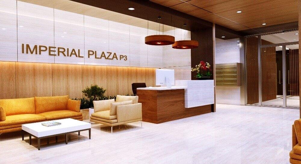 Sảnh đón tiếp cư dân sang trọng chung cư Imperial Plaza