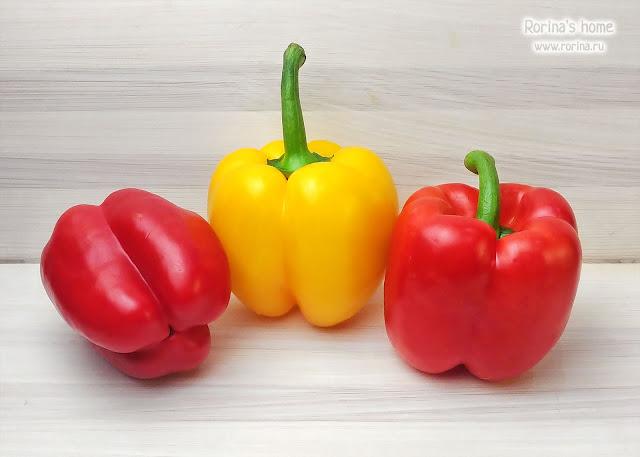 Спелые болгарские перцы