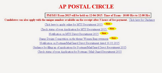 Postman & Mail Guard Exam Date 2015, Previous papers for Andhra Pradesh|Get Bank Job